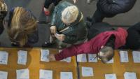 Imatge d'un centre de votació en les darreres eleccions generals
