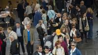 Ciutadans votant a Girona en les últimes eleccions generals