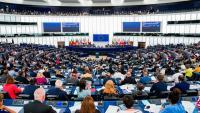 Plenari de l'Eurocambra durant la votació de la resolució