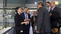 El president Quim Torra amb els responsables del Sincrotró Alba
