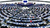 Imatge de l'hemicicle del Parlament Europeu durant una sessió