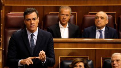 Pedro Sánchez, ahir al Congrés,