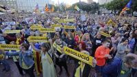La concentració que es va fer al juny a plaça Catalunya en suport als presos