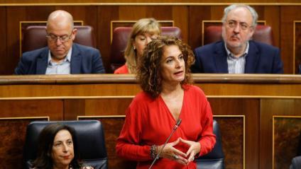 Maria Jesús Montero, ministra d'Hisenda en funcions, en el Congrés dels Diputats