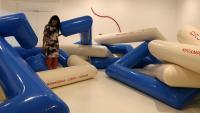 Laia Estruch a l'exposició 'Crol' a la Fundació Joan Miró