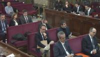 Imatge del banc dels acusats durant una de les sessions del judici