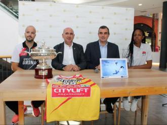 Surís, Pérez, Jordà i Elonu, en la presentació d'ahir a l'Espai Gironès