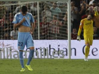 Jozabed i Juan Carlos, abatuts després d'encaixar un dels gols al camp de l'Almeria