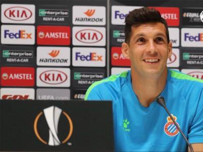 Javi López no podia amagar l'emoció que viurà demà en l'estrena europea al RCDE Stadium.