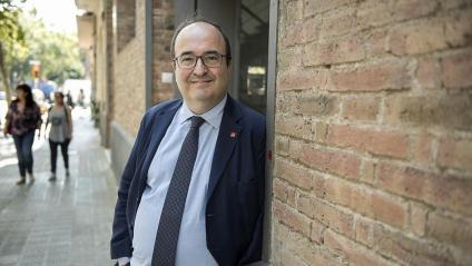 Miquel Iceta, divendres passat  a Barcelona, abans de fer-se l'entrevista