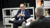 El primer secretari del PSC, Miquel Iceta, en un moment de l'entrevista en què va participar divendres passat a El Punt Avui TV