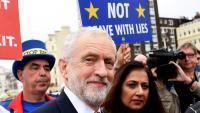 Jeremy Corbin, a la seva arribada a la ciutat de Brighton, en el segon dia de congrés del Partit Laborista