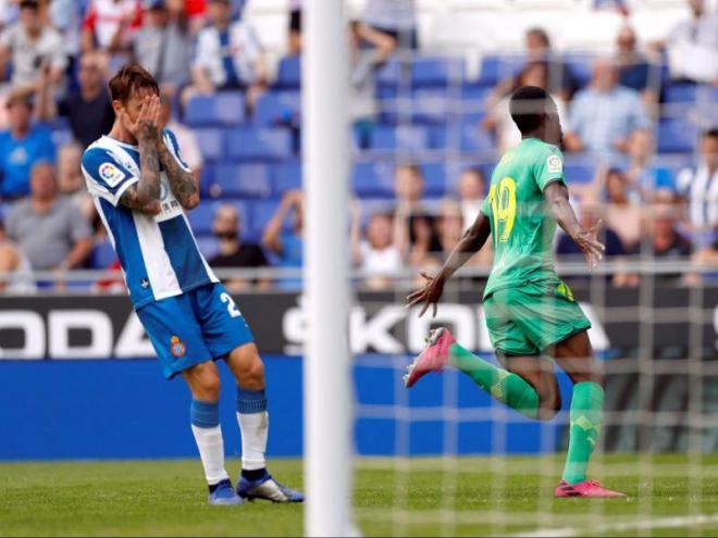 Fernando Calero es lamenta per una greu errada en el partit d'ahir