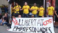 Acció per reclamar la llibertat dels CDR detinguts el 23-S