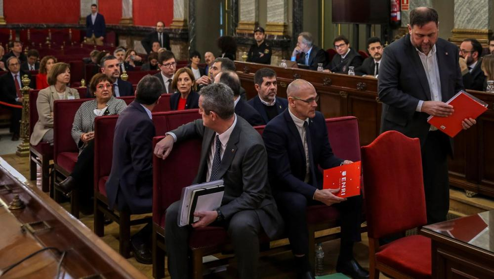 Els líders independentistes durant el judici al Suprem
