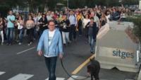 Un moment de la manifestació