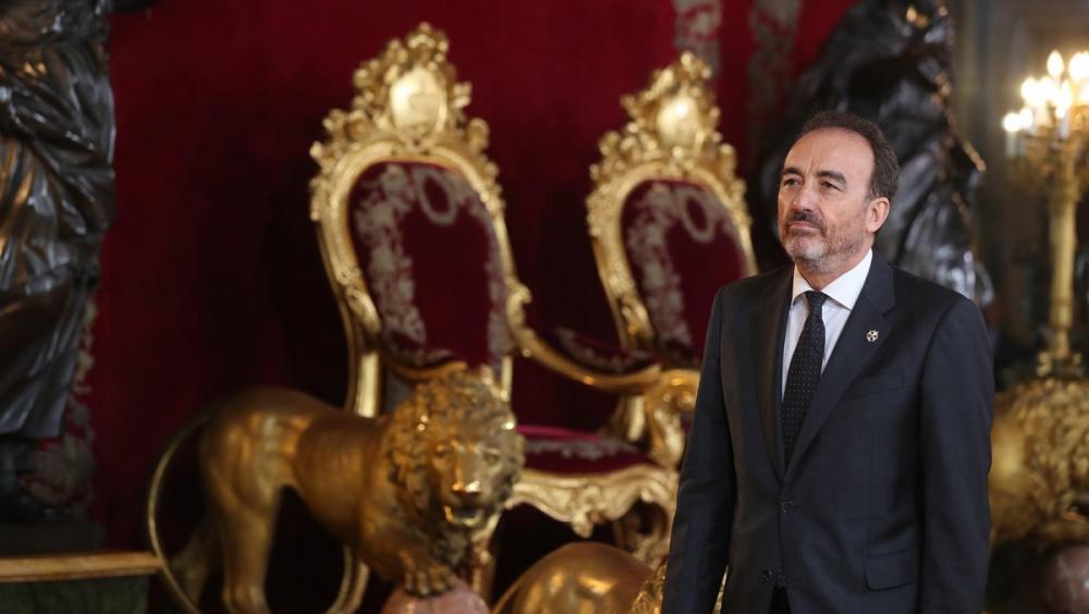 El jutge Manuel Marchena, president de la sala penal del Tribunal Suprem, en una recepció oficial celebrada recentment al Palau Reial de Madrid, ha estat el ponent de la sentència que es va fer pública ahir i que condemna els líders del procés independentista pels delictes de sedició, malversació i desobediència