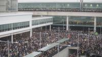 Protesta a l'aeroport del Prat