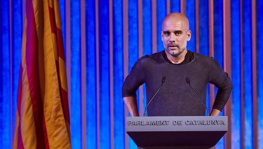 Guardiola és el protagonista d'un vídeo que reclama la intervenció exterior en el conflicte