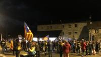 Un detall dels manifestants al pas fronterer