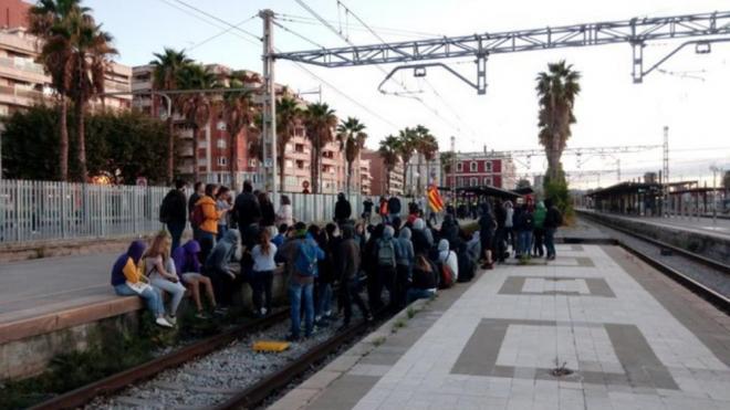 Tall de CDR de les vies a Mataró