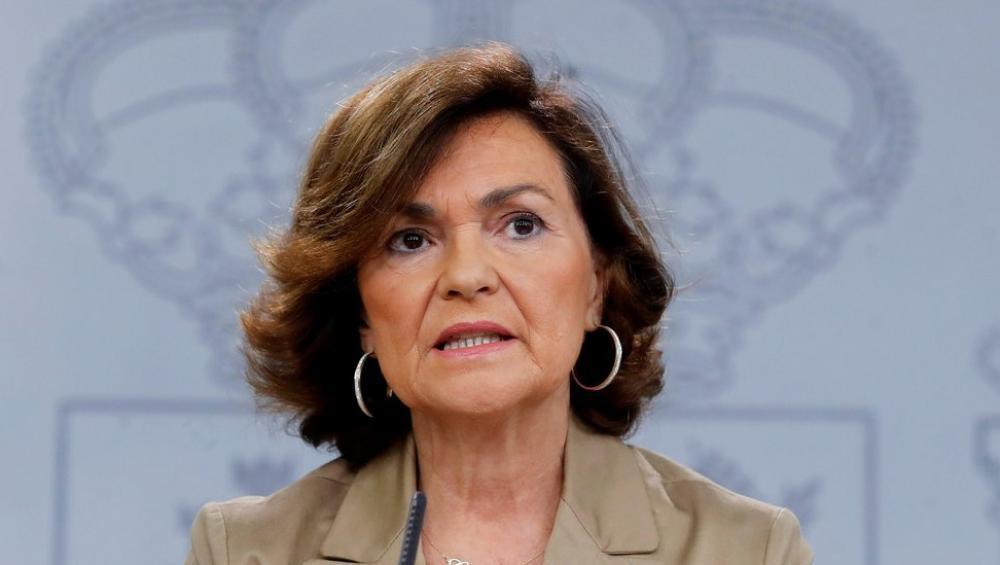 La vicepresidenta en funcions, Carmen Calvo