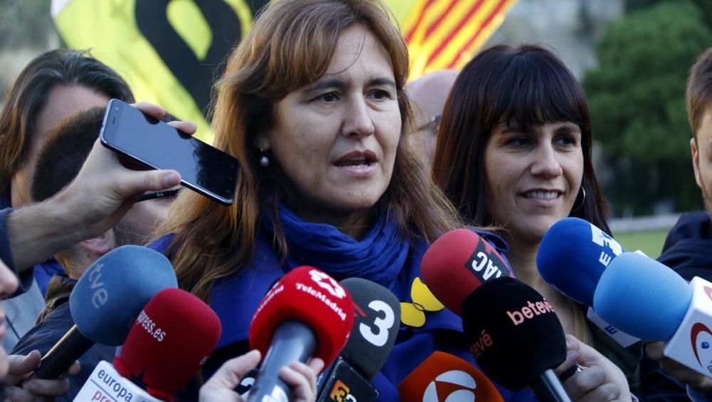 La portaveu al Congrés de JxCat, Laurà Borràs, en declaracions als mitjans