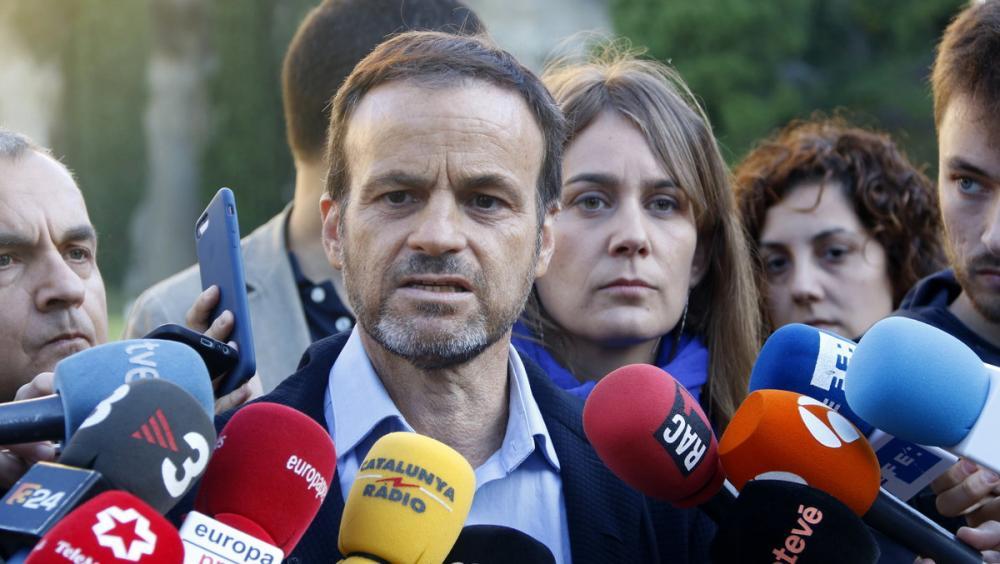 El portaveu d'En Comú Podem, Jaume Asens, a l'acte celebrat a Montjuïc