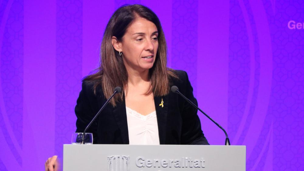 La portaveu del Govern català, Meritxell Budó