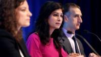 Gita Gopinath, la cap dels economistes de l'FMI, presenta, ahir, l'informe a Washington