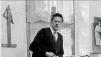 Guillem Soler, retratat al seu estudi de Palafrugell el 1948.
