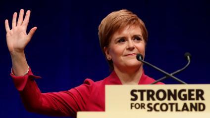 Nicola Sturgeon, ahir en el discurs que va tancar el congrés de l'SNP a Aberdeen