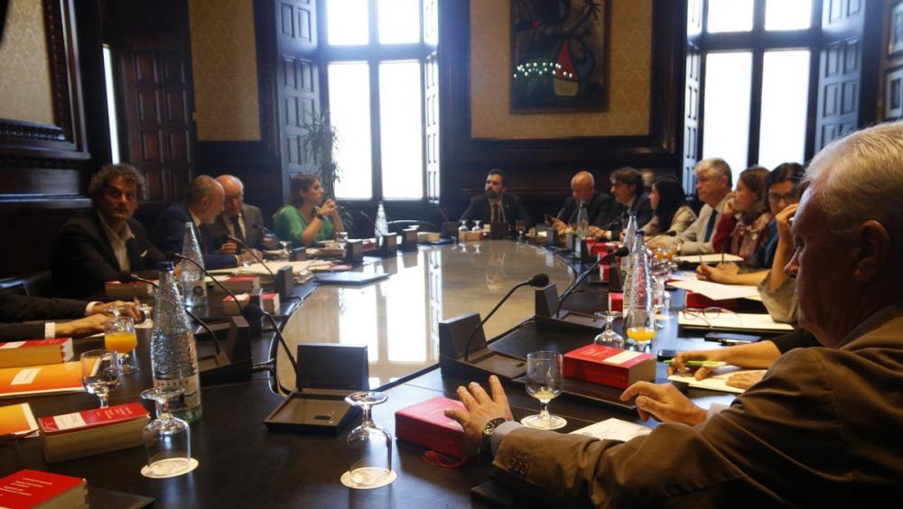 Junta de portaveus celebrada ahir a la cambra catalana