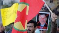 Manifestants kurds a la capital ucraïnesa, Kíev, protestant ahir contra la invasió turca. Els kurds estan protestant arreu del món