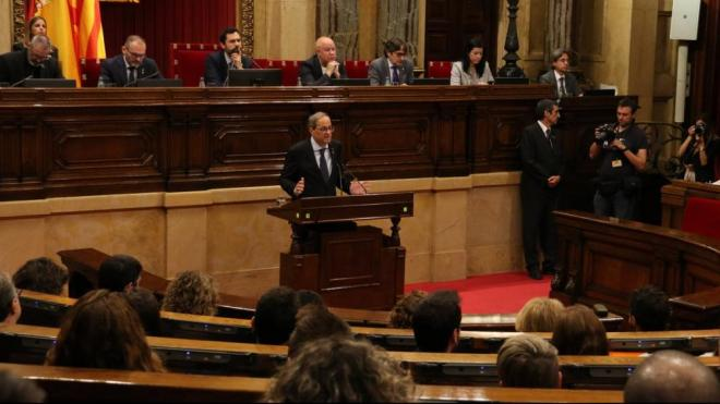 El president Torra al Parlament