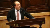 El líder del PSC, Miquel Iceta, al Parlament