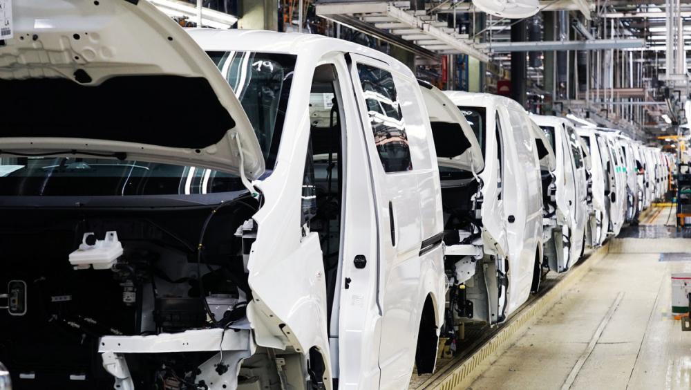 Cadena de muntatge de la furgoneta elèctrica de Nissan