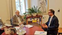 El conseller Bosch, amb l'exvicecanceller austríac Erhard Busek
