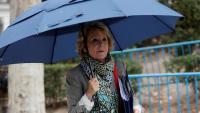 Esperanza Aguirre, ahir, arribant a l'Audiencia Nacional per declarar