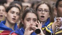 Els estudiants han posat música i càntics a la resposta a la sentència