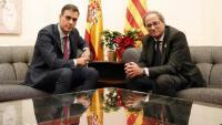 Els presidents Pedro Sánchez i Quim Torra, en una de les reunions que han mantingut