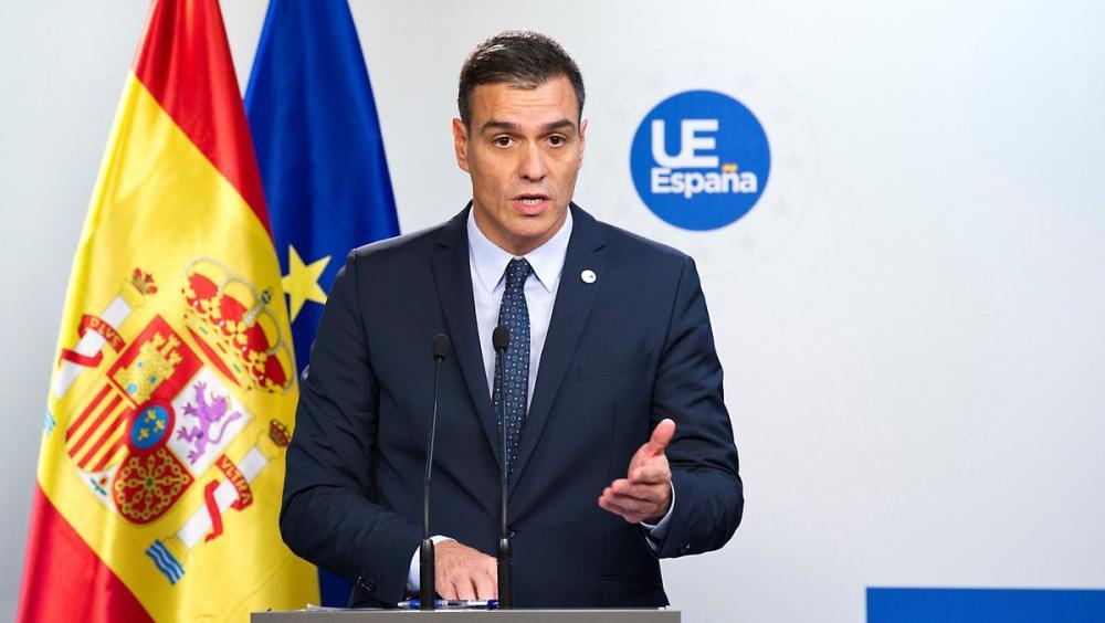 Pedro Sánchez, ahir en la compareixença després del Consell Europeu