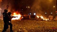 Els aldarulls van causar destrosses molt importants als carrers del centre de Barcelona