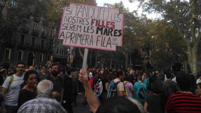 Concentració a la plaça Urquinaona de Barcelona