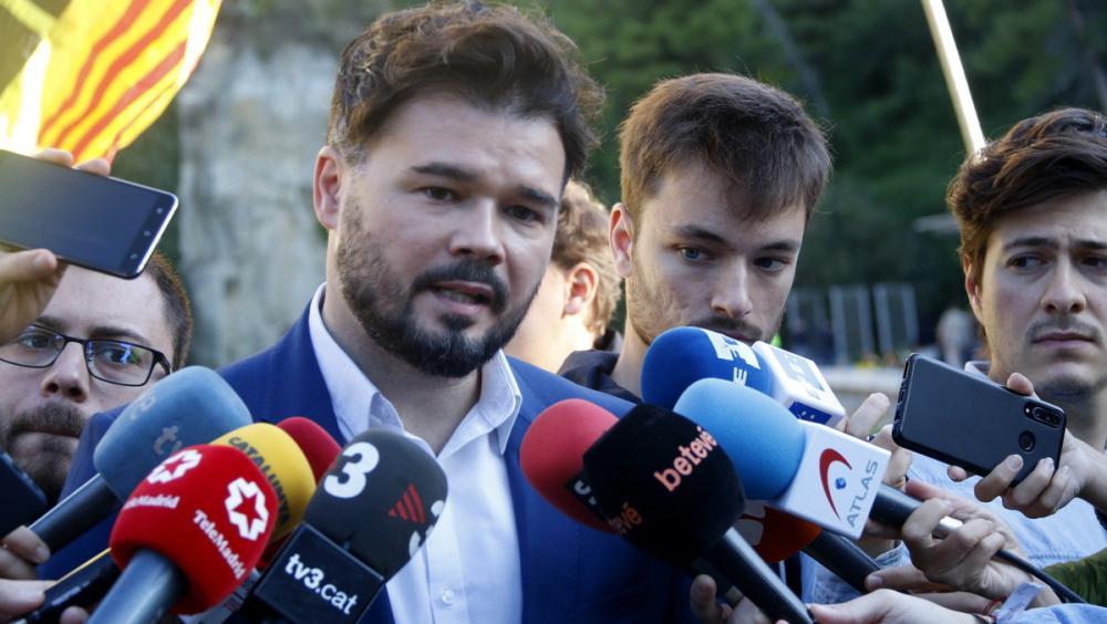 El portaveu d'ERC al Congrés, Gabriel Rufián, en declaracions als mitjans