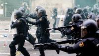 Antiavalots de la policia espanyola en els disturbis a Via Laietana