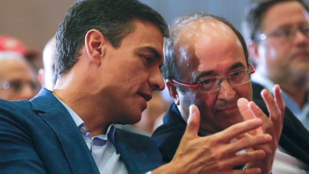 Pedro Sánchez i Miquel Iceta