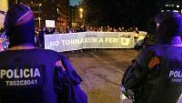 Sis detinguts durant les protestes de diumenge, 3 a Barcelona, 1 a Girona i 2 a Lleida