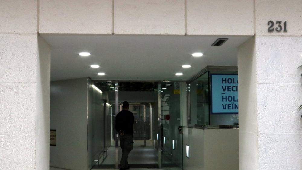 Porta de l'ACM a Barcelona