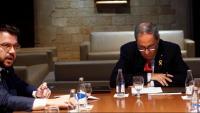 El vicepresident Aragonès i el president Torra a Palau en una imatge d'arxiu